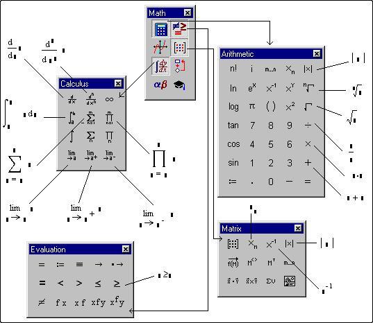Как сделать квадратные скобки в mathcad