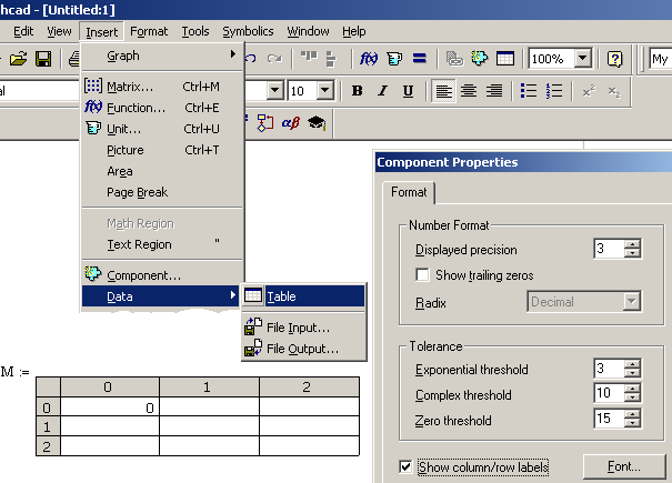 Chapter 1. If A User Has Installed Both Excel And Mathcad Entering Of Large Volumes Information Can Be Automated An Table Is Inserted Into Worksheet. Worksheet. Mathcad Worksheet Exle At Mspartners.co